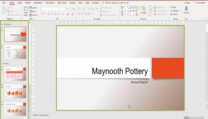 PowerPoint shown in Normal View