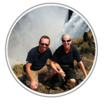Picture of Alan and Kelly at Victoria Falls