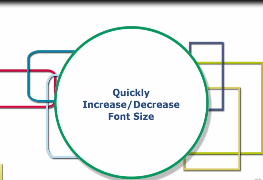 Word Tip – Quickly Increase/Decrease Font Size