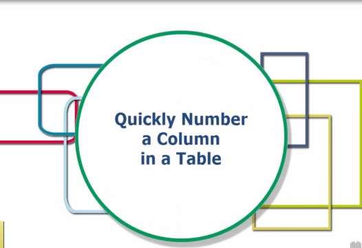 Word Tip – Quickly Number a Column in a Table