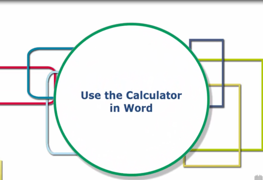 Word Tip – Use the Calculator in Word