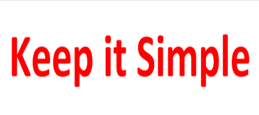 Welcome to the 'Keep it Simple' Blog