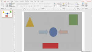 Shows an invisible box drawn around shapes