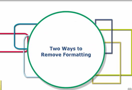 Word Tip – Two Ways to Remove Formatting