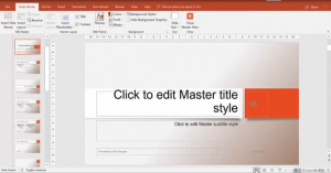 Showing Slide Master View