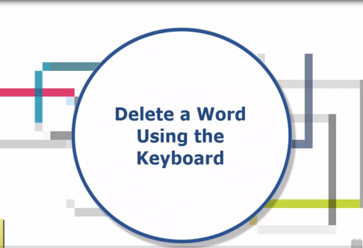 Word Tip – Keyboard Shortcut to Delete a Word