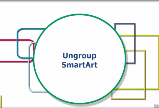 PowerPoint Tip – Ungroup SmartArt
