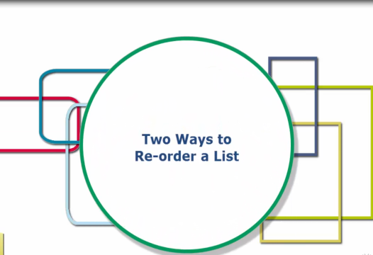 PowerPoint Tip – Two Ways to Reorder a List