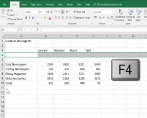 Use F4 to repeat the row deletion