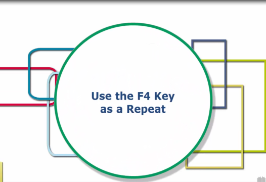 Excel Tip – Use the F4 Key as a Repeat