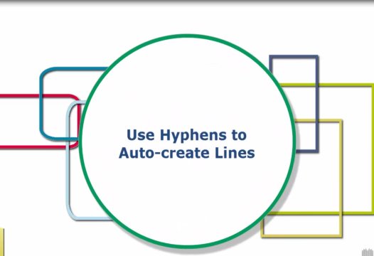 Word Tip – Use Hyphens to Auto-create Lines